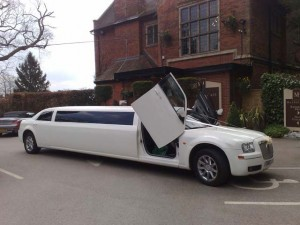 stretched limo prom