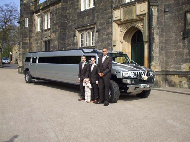 Silver Limo for wedding Hire