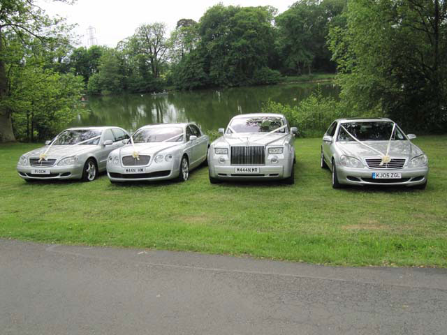 Front on line up Rolls Royce
