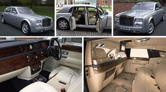 Silver Rolls Royce Phantom Wedding Car Hire