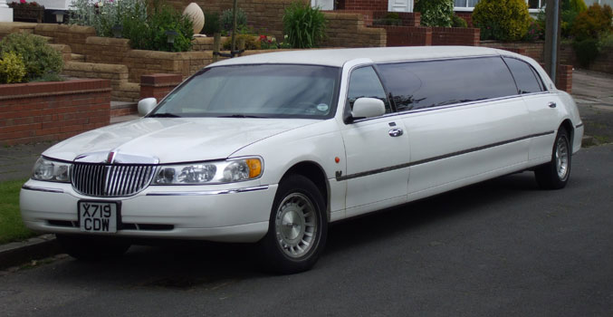 White stretched Limo