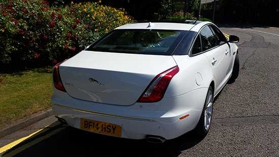 rear of Jaguar XJL