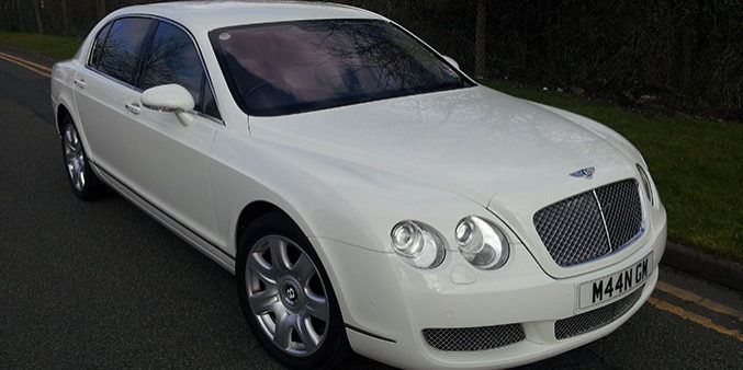 White Bentley Wedding Car Hire