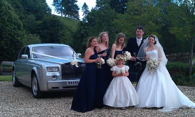Silver Rolls Royce for wedding