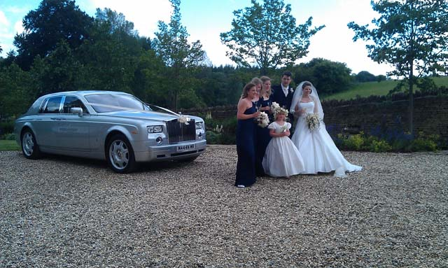 Silver Rolls Royce for weddings