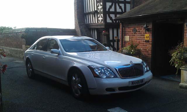 Maybach wedding car for prestige wedding car hire West Midlands