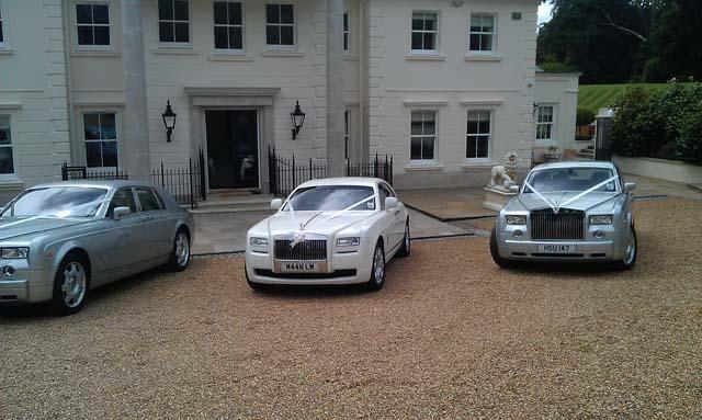 Rolls Royce wedding cars for prestige wedding car hire West Midlands