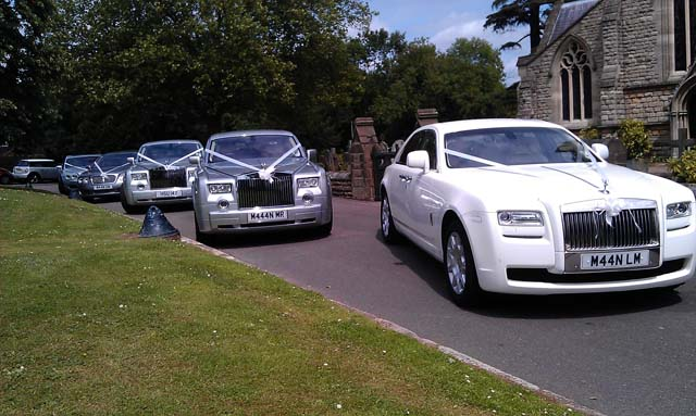 Silver rolls royce car hire