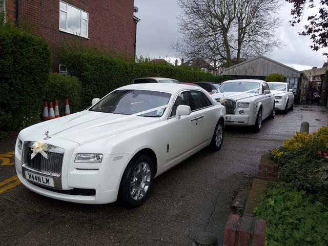 rolls royce fleet for prestige wedding cars Birmingham