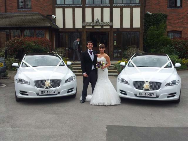 Jaguars for prestige wedding car hire birmingham