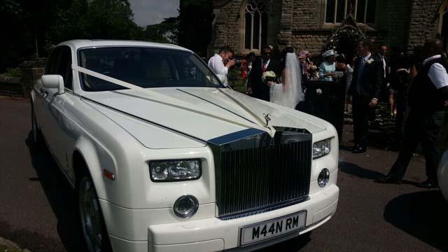 rolls royce for prestige wedding car hire birmingham