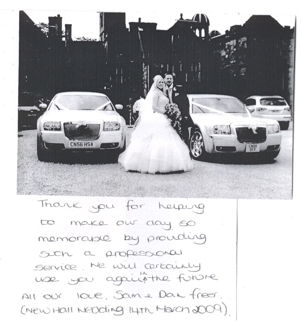 thank you for your limo hire service email