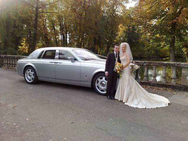 silver rolls royce for prestige wedding cars Birmingham