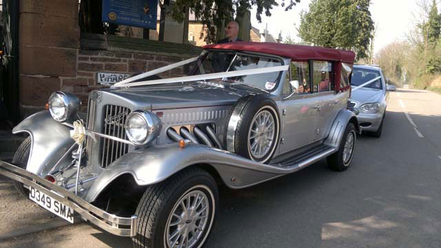 vintage and classic wedding cars for hire Birmingham