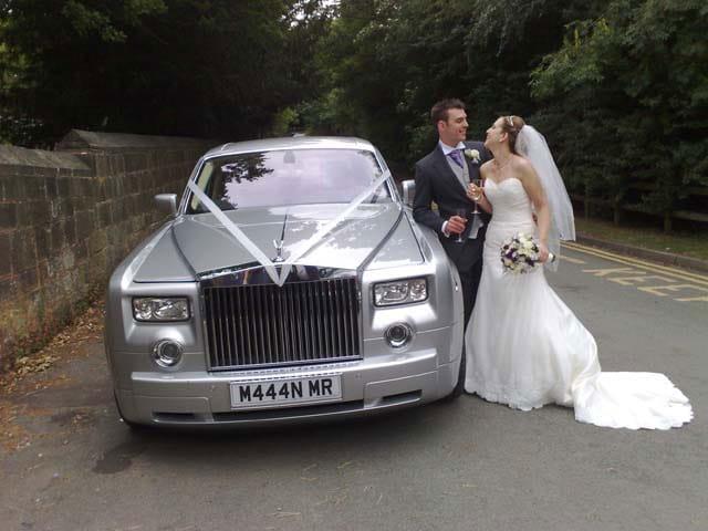 Wedding Day Silver Phantom for wedding cars West Midlands