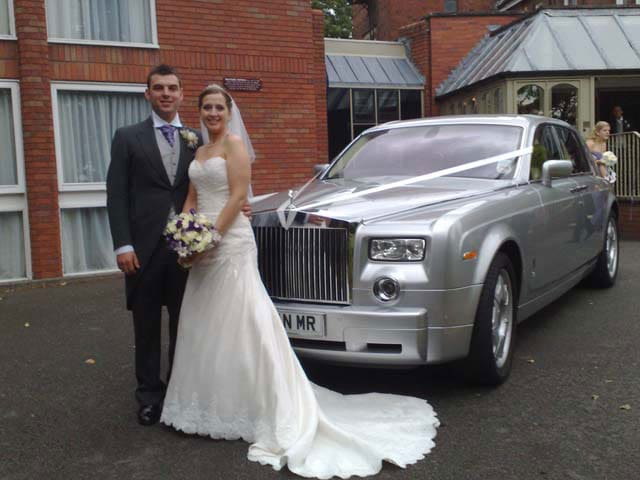 Reception wedding car