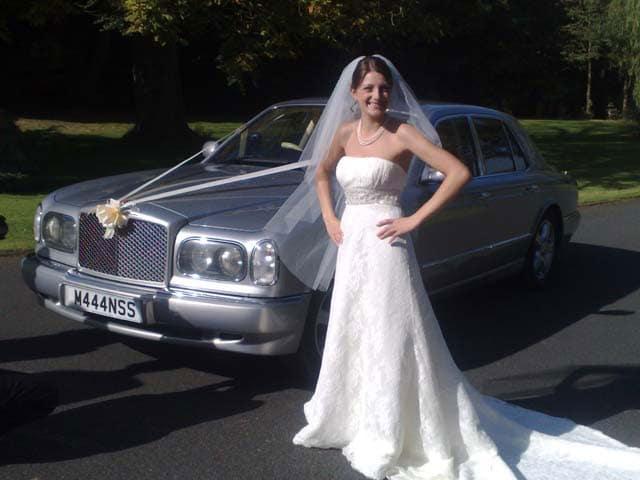 Rolls royce and bride for prestige wedding cars west midlands