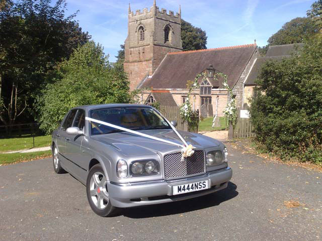 Silver wedding car hire