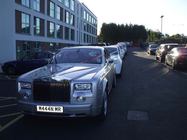 Silver Rolls Royce wedding cars to hire