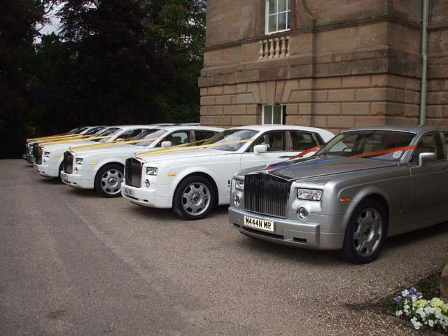 Multiple Rolls Royce for prestige wedding cars West Midlands