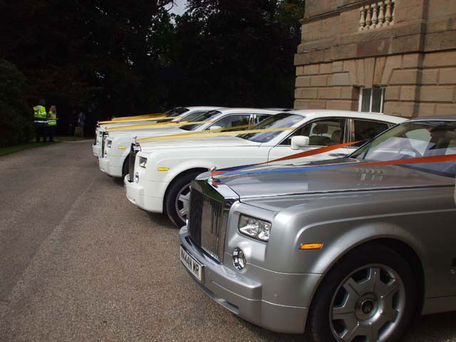 Manns Limousines Fleet of rolls Royces car hire