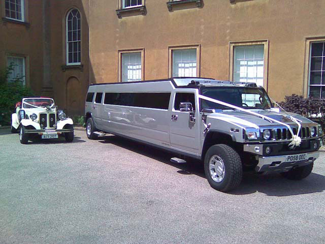 Vintage and New Wedding Car hire Manns Limousines