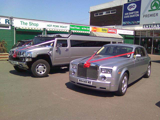 Two wedding car hire