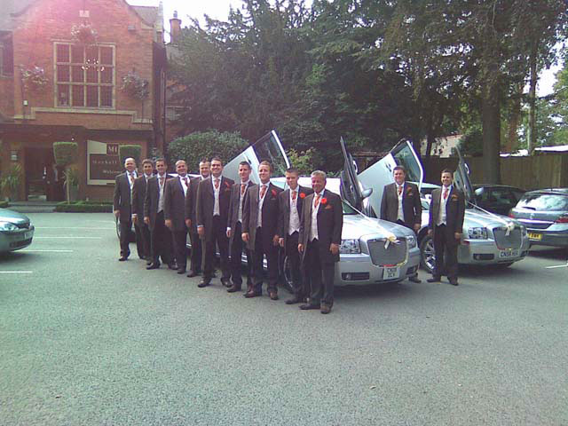 Manns Limousines Wedding day rolls Royce hire