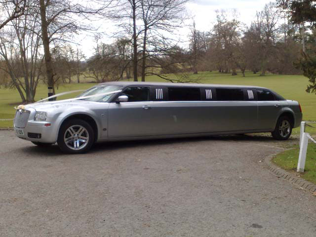 Bride Groom and Guest limo transport