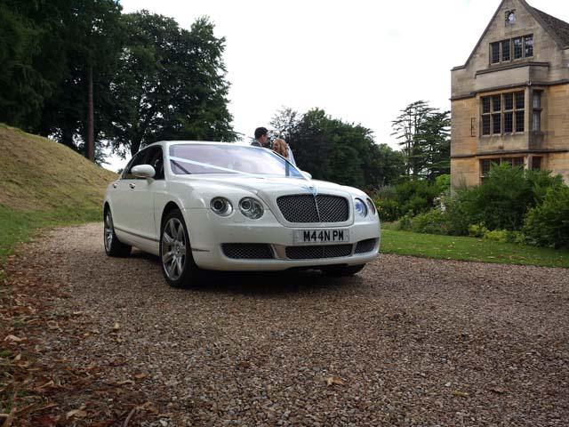 white jaguar for prestige wedding car hire West Midlands