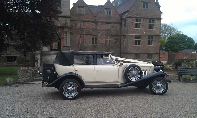 Vintage wedding car hire Manns Limo