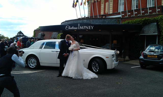 Roll Royce white wedding hire