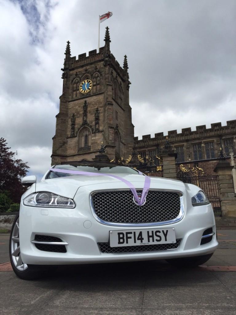 jaguar wedding car for hire Birmingham