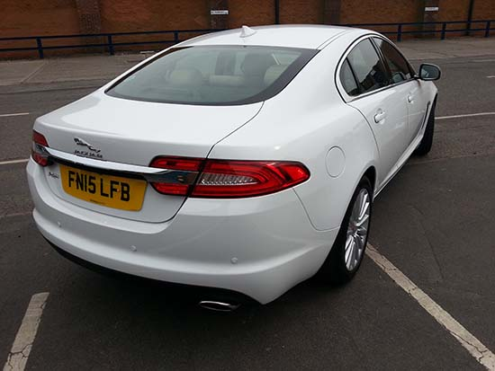 Jaguar XF Rear View