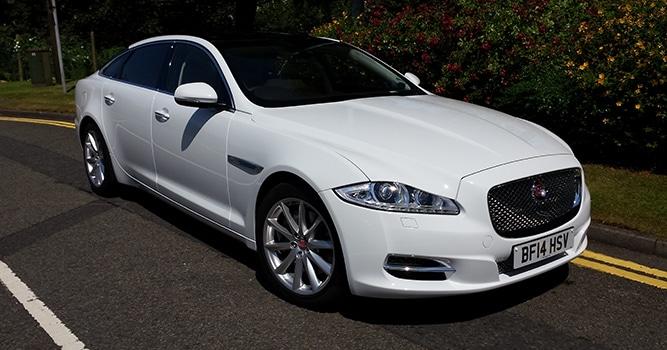 jaguar xj lwb wedding car manns limousines