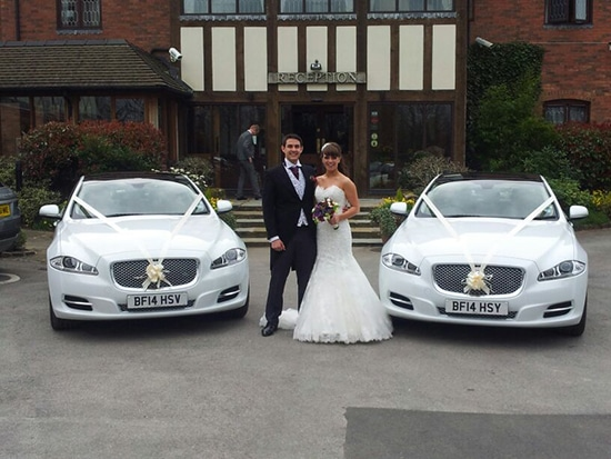 Matching Jaguars for prestige wedding cars Birmingham