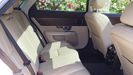 Jaguar XJ LWB White Back Seats Interior