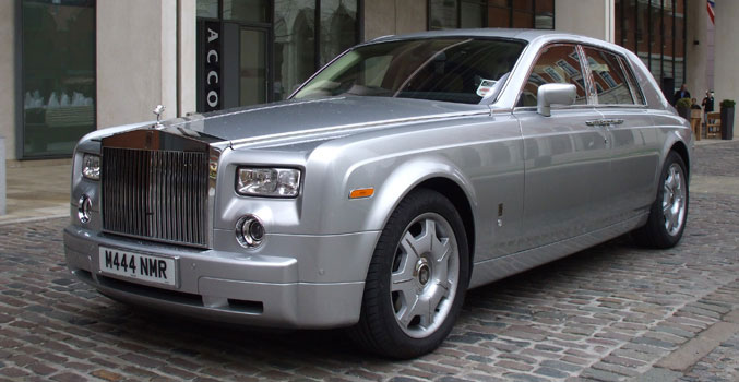 Silver Rolls Royce Phantom Wedding Cars Manns Limousines