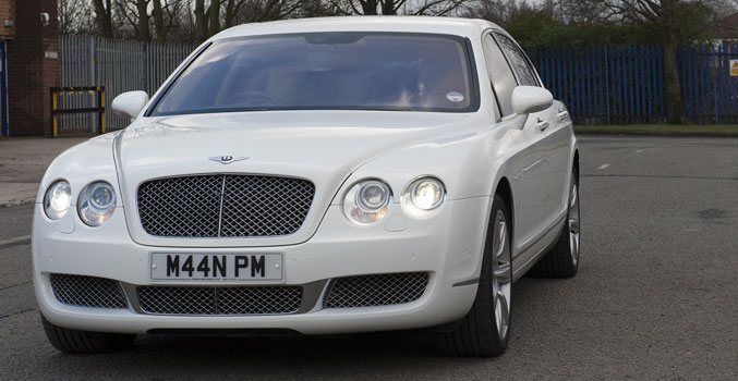 Manns White Bentley Continental Flying Spur