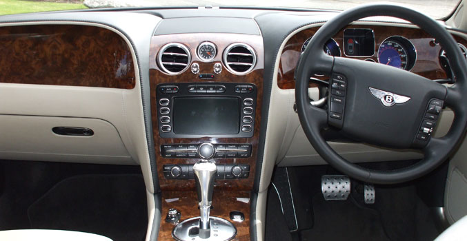 Bentley Wedding Car Interior
