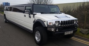 White Hummer limo hire