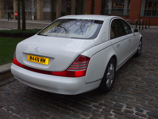 White Maybach for prestige wedding cars