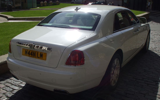 Chauffeur driven wedding transport