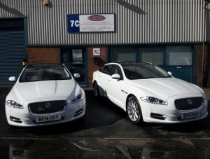 matching Jaguar wedding cars