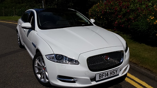 Jaguar XJL White luxury car hire