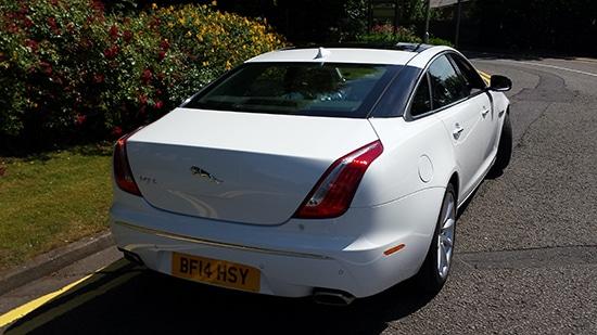 rear of Jaguar XJL