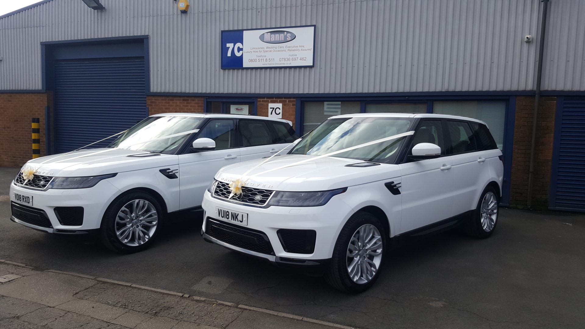 duplicate range rover wedding cars