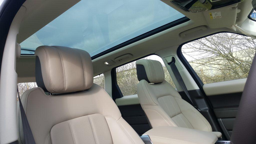 room inside the new range rover for prestige wedding car hire birmingham