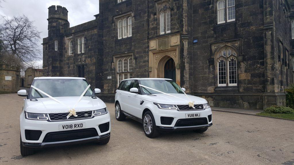 Amazing venue and Range Rovers for prestige wedding car hire birmingham