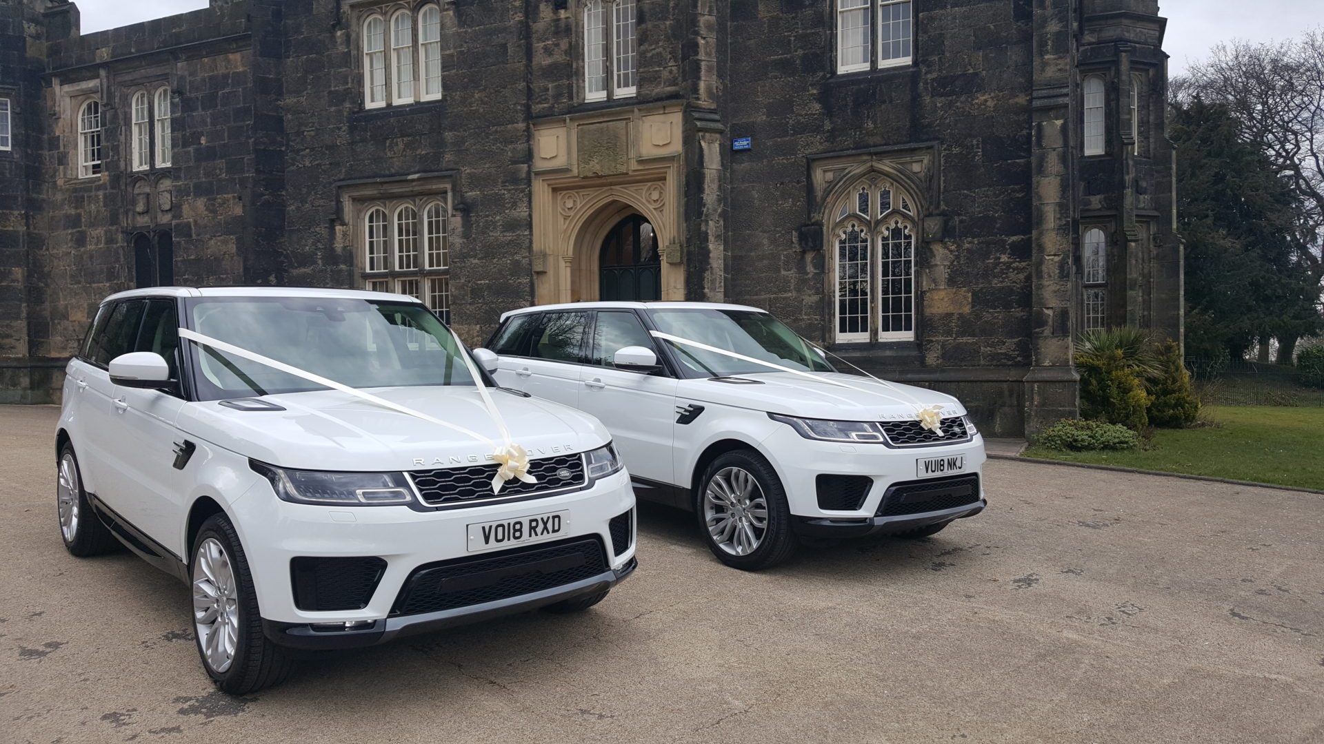 white range rover wedding cars